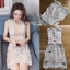 🎀 Lady Ribbon's Made 🎀Lady Anna Feminine Sexy White Lace Dress with Beige Linings thumbnail 7