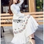 🎀 Lady Ribbon's Made 🎀 Lady Lauren Flower Embroidered White Cotton Maxi Dress thumbnail 5