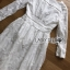 Lady Alison Sweet Casual Everyday Flower Embroidered White Cotton Dress thumbnail 7