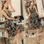 Seoul Secret Say's .... Goldly Flora Lace Blacky Net Maxi Dress thumbnail 2