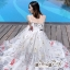 White Line Dress With Black Fancy Stripes ขาว thumbnail 5
