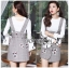 🎀 Lady Ribbon's Made 🎀 Lady Amber Embroidered Houndstooth Suit Dress Over White Blouse Set thumbnail 5