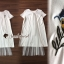 White Flossy Cotton Flex Dress thumbnail 5