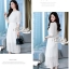 Aris Code White Lace Dress Maxi Sweet thumbnail 2