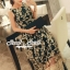 Seoul Secret Say's .... Goldly Flora Lace Blacky Net Maxi Dress thumbnail 4