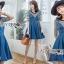 🎀 Lady Ribbon's Made 🎀Lady Anna Street Chic Striped T-Shirt with Denim Dress thumbnail 2