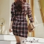 Dress Scott Red&Black Style Korea thumbnail 6