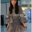 🎀 Lady Ribbon's Made 🎀 Lady Liz Striped Silk Cotton Ruffle Mini Dress with Big Ribbon thumbnail 1