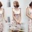 Mini Lace Dress Erin Off Shoulder Black&Cream Tulle Korea ครีมชมพู thumbnail 5
