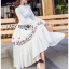 🎀 Lady Ribbon's Made 🎀 Lady Lauren Flower Embroidered White Cotton Maxi Dress thumbnail 4