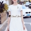 White Flossy Cotton Flex Dress thumbnail 1