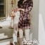 Dress Scott Red&Black Style Korea thumbnail 5