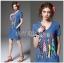 Lady Ribbon's Made Lady Glam Gloria Fun Printed Denim Dress thumbnail 3