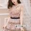Mini Dress Ladies Flower Embroidery Korea Style thumbnail 4