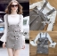🎀 Lady Ribbon's Made 🎀 Lady Amber Embroidered Houndstooth Suit Dress Over White Blouse Set thumbnail 7