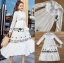 🎀 Lady Ribbon's Made 🎀 Lady Lauren Flower Embroidered White Cotton Maxi Dress thumbnail 6