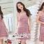 Short Sleeves Diamond Straps Fabric Dress Grab A Layer thumbnail 3