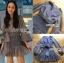 🎀 Lady Ribbon's Made 🎀 Lady Liz Striped Silk Cotton Ruffle Mini Dress with Big Ribbon thumbnail 6