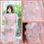 XL,3XL,5XLชุดเดรสสาวอวบ++ผ้า Canvas TM พื้นชมพูลายดอก จุดเด่นของชุดนี้ ดีไซน์คอวีสุดเก๋ thumbnail 5