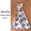 เดรสแขนกุดผ้าซีทรูสีขาว แต่งเกาะอก สรีนผ้าพิมพ์ลาย ผีเสื้อ ทั้งตัว thumbnail 3