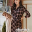 Dress Scott Red&Black Style Korea thumbnail 4