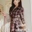 Dress Scott Red&Black Style Korea thumbnail 2