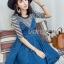 🎀 Lady Ribbon's Made 🎀Lady Anna Street Chic Striped T-Shirt with Denim Dress thumbnail 4