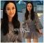 🎀 Lady Ribbon's Made 🎀 Lady Liz Striped Silk Cotton Ruffle Mini Dress with Big Ribbon thumbnail 5