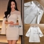 🎀 Lady Ribbon's Made 🎀 Lady Claire Sexy & Classy White Body-Con Dress thumbnail 7