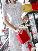 Seoul Secret Say's... Korea Princess Ivory Lace Dress