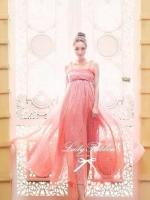 เสื้อผ้าแฟชั่นเกาหลี Lady Ribbon's MadeLady Sweet Pissella Polka Dot Sherbet Maxi