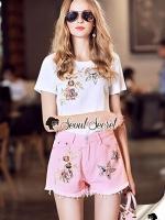 เสื้อผ้าแฟชั่นเกาหลี Seoul Secret Say's... Sakura Pink Diamond&Jewel Furnish Set