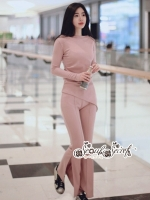 เสื้อผ้าแฟชั่นเกาหลี Lady Ribbon Thailand Seoul Secret Say'...T-Shirt With Pantyhose And Pink Sweet Set
