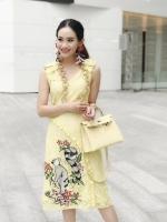 เสื้อผ้าแฟชั่นเกาหลี Lady Ribbon Thailand Normal ally present K.S lace dress