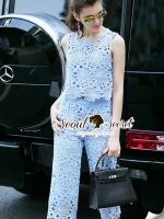 Seoul Secret Say's...Pastelly Blue Flora Lace Set