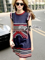 🎀 Lady Ribbon's Made 🎀 Lady Kim Tribal Embroidered Cotton Dress