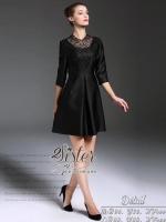 เสื้อผ้าแฟชั่นเกาหลี 2Sister Made, Black Royalty Modern Dress