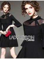 🎀 Lady Ribbon's Made 🎀 Lady Bianca Black Ribbon Frilled Dress
