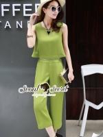 เสื้อผ้าแฟชั่นเกาหลี Seoul Secret Say's... Chic Zippy Waisty Colo Playsuit Set