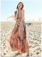 🎀 Lady Ribbon's Made 🎀Lady Ana Summer Style Printed Chiffon Jumpsuit