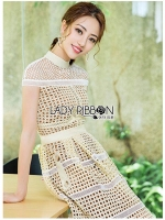 🎀 Lady Ribbon's Made 🎀 Lady Linda Elegant Sweet Pastel Lace Dress