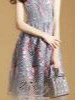 เสื้อผ้าแฟชั่นเกาหลี 2Sister Made, Girly Sweet Beauty Sparkling Vintage Dress