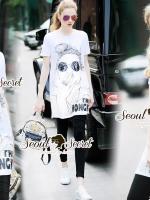 Seoul Secret Say's...Chic Chill Glasses Sequinny Skinny Pants Set