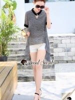 Seoul Secret Say's... Chic Stripe Lace Shorts Set V Beltty