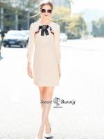 เสื้อผ้าแฟชั่นเกาหลี Sweet Bunny Present... Gucci Embroidered Dress With Brooch