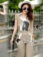 เสื้อผ้าแฟชั่นเกาหลี Seoul Secret Say's... Chill Mollon Triple Set