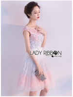 เสื้อผ้าแฟชั่นเกาหลี Lady Ribbon's Made Lady Catherine Dreamy Little Princess Flower Embroidered Tulle Dress
