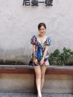 เสื้อผ้าแฟชั่นเกาหลี Lady Ribbon Thailand Normal Ally Present Zara flower print in Summer