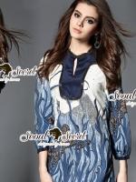 Seoul Secret Say's... Sapphire Coral Print Dressv