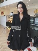 🎀 Lady Ribbon's Made 🎀 Lady Chiara Smart Elegant Ruffle Suit Dress